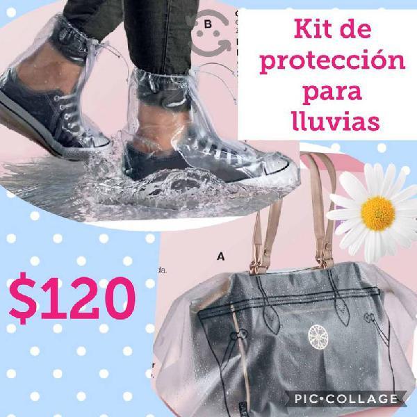 kit protector de zapatos para lluvia