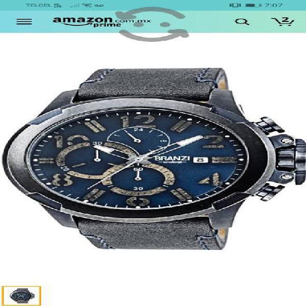 reloj branzin nuevo piel de becerro