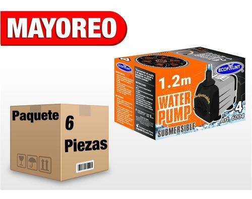 6 Bomba De Agua Sumergible Acuario Pecera Fuente 1.20 M 6004