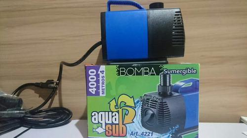 Bomba De Agua Sumergible 6500l/h 4m Peces Pecera