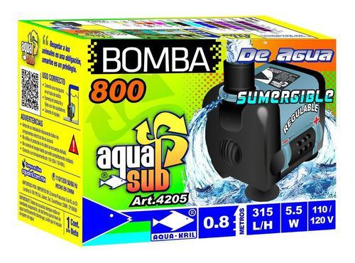Bomba De Agua Sumergible Acuario Pecera Fuente 0.80 M 4205