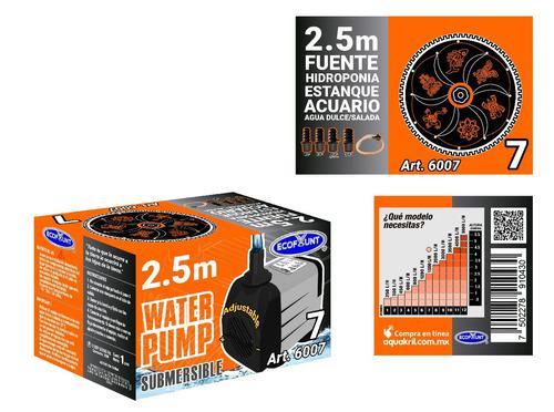 Bomba De Agua Sumergible Pecera Fuente Hidroponía 2.50m