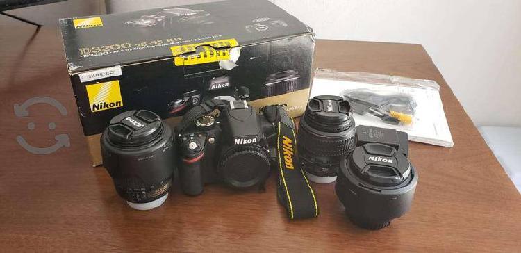 Camara profesional NIKON D3200 lente nikon