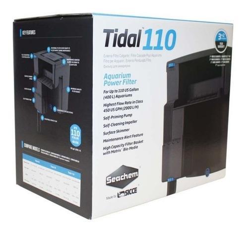 Filtro De Cascada Tidal 110 Para Agua Dulce Y Salada 400 Lt
