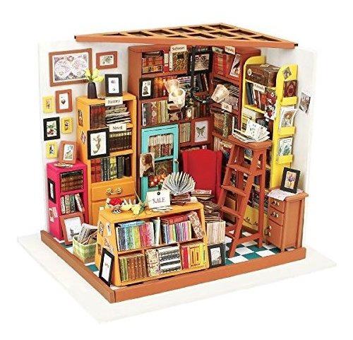 Kit Casa De Muñecas En Miniatura Madera Muebles Y Accesorio