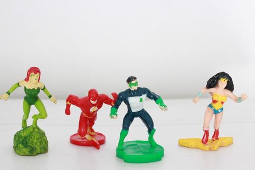 Lote De 4 Figuras Miniatura Liga De La Justicia Vintage