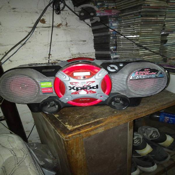 Radio grabadora sony XPLOIT CD mp3 y casette