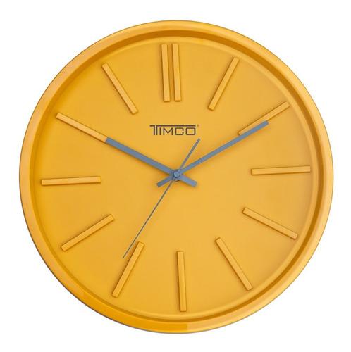 Reloj De Pared Minimalista Amarillo Timco