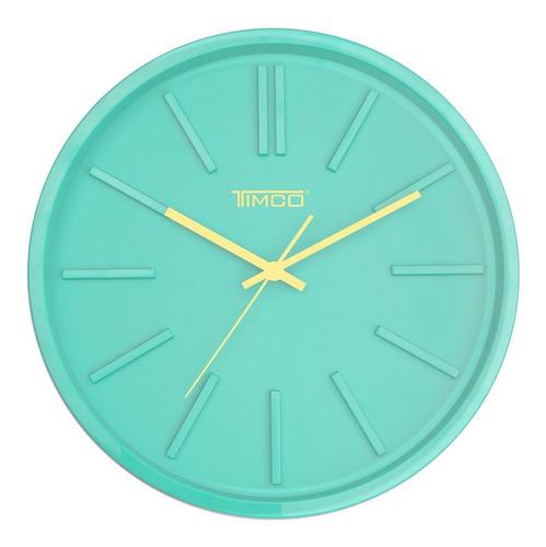 Reloj De Pared Minimalista Verde Timco