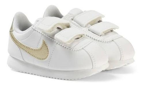 Tenis Nike Cortez Classic Blancos Para Bebe 100% Originales