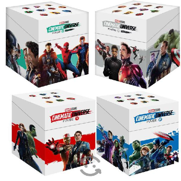 Universo Marvel Fase 1,2,3 Parte 1 Y 2 23 Blurays