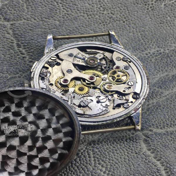 Antiguo reloj de cronos máquina Landeron