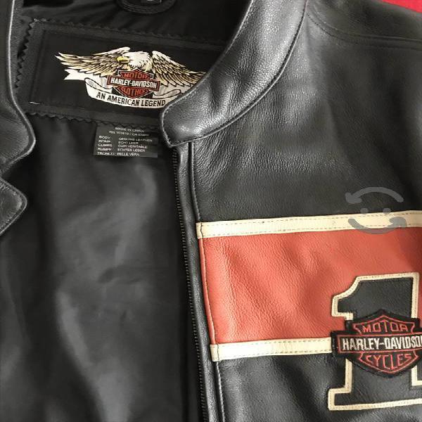 Chamarra Harley Davidson original de cuero