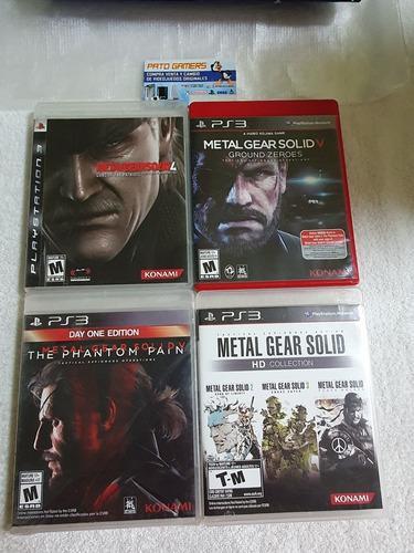 Metal Gear Solid Coleccion Para Ps3 4 Discos 6 Juegos.