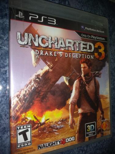 Playstation 3 Ps3 Juego Uncharted 3 Nuevo Sellado Físico