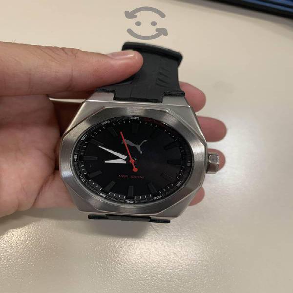 Reloj Puma Pu104051001 Acero Caucho Dial Negro