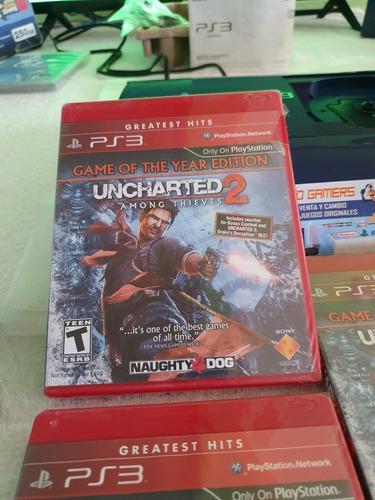 Uncharted 2 Edicion Juego Del Año, Nuevo Sellado Original