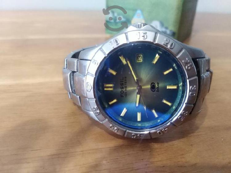 reloj caballero marca fossil modelo blue. original
