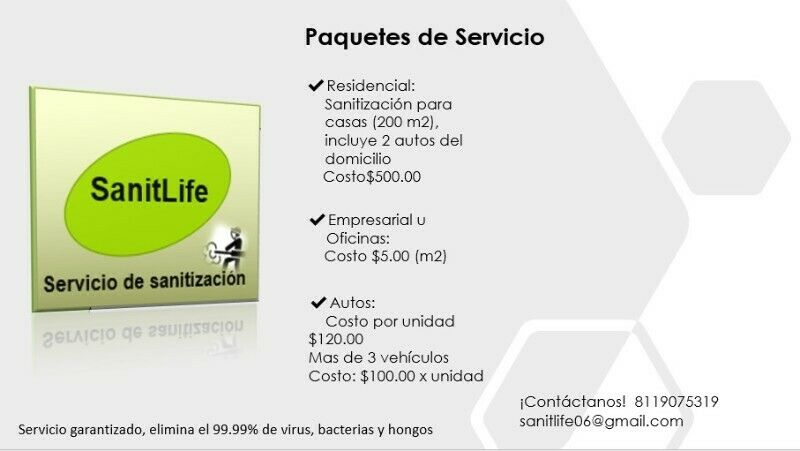 Sanitiza tu hogar o negocio con SanitLife