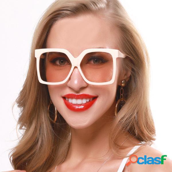 Retro Big Caja Nuevas gafas de sol Contraste Color Gafas de