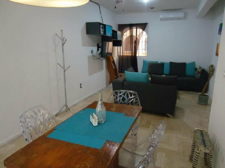Se Renta Departamento Amueblado en Cancun 3Rec, 2Baños Av.
