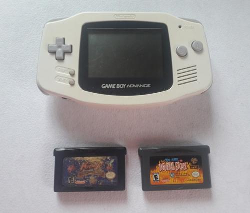 Gameboy Advance Mod. Agb-001 Blanco + Vj Kirby Y Tom & Jerry