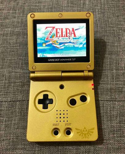 Gameboy Advance Sp Edición Zelda Triforce Ags 101 Doble Luz