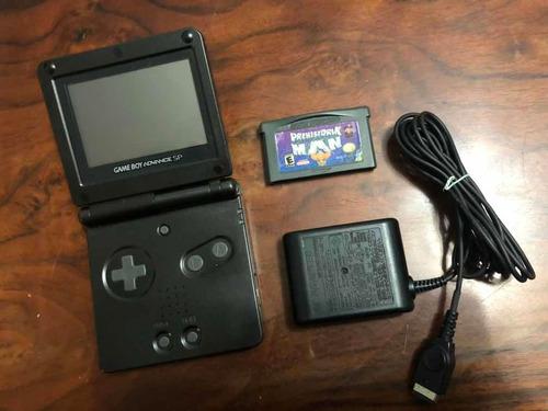 Gameboy Advance Sp Negro Con Cargador Y Juego