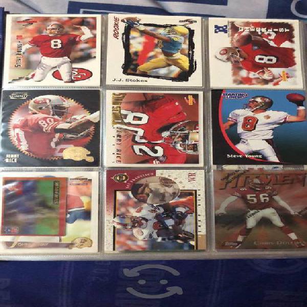 Colección de tarjetas de NFL
