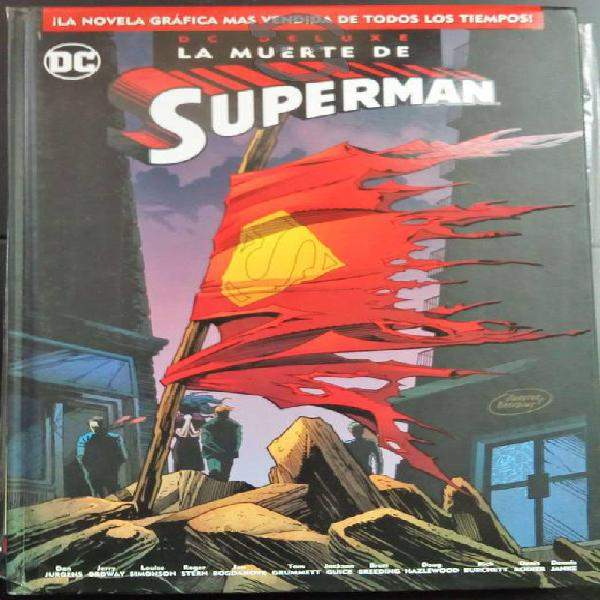 La muerte de Superman Dc comics Deluxe edition