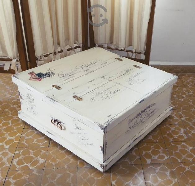 Mesa de centro tipo baúl vintage