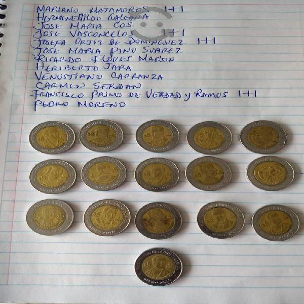 Monedas de Colección de Cinco Pesos