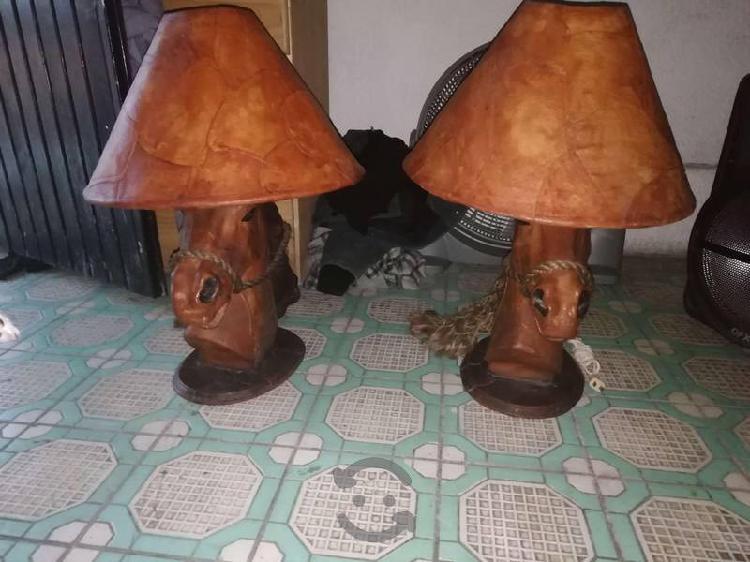 Un par de lámparas de buro