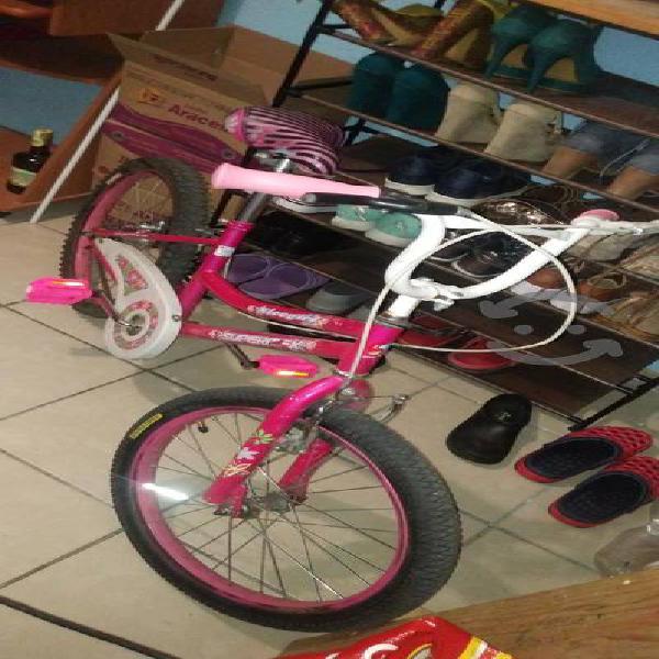 bici color rosa rodada 20