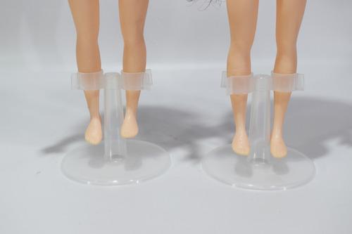 10 Bases De Plástico Para Muñecas Tipo Barbie O Monster