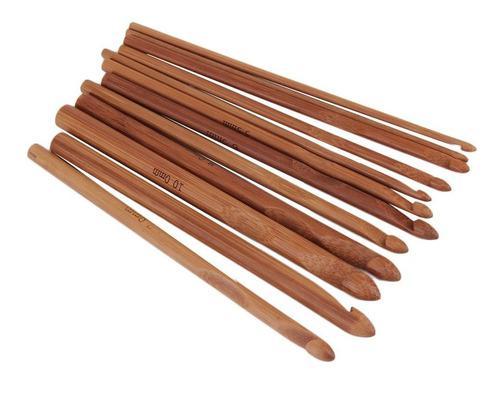 12 Tamaño De Bambú Mango Ganchillo De Punto De Hilo Craft