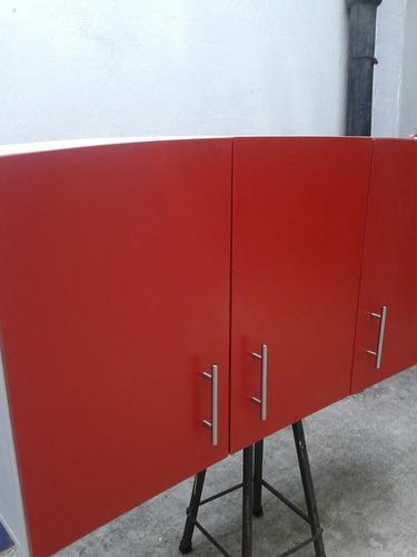 Alacena Alta Para Cocina Integral Color Rojo Colonial