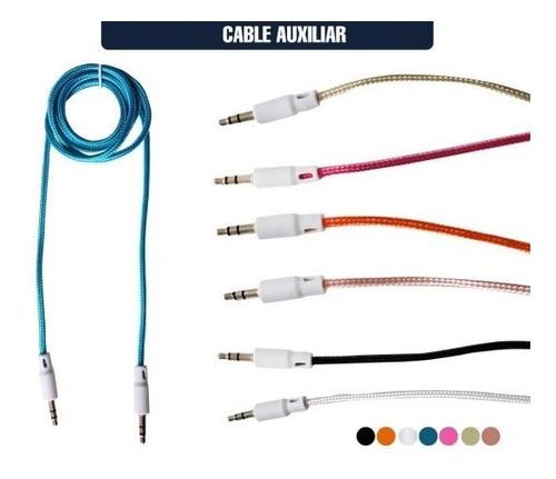 Cable Auxiliar 3.5 Reforzado Colores Celular Auto Bocina