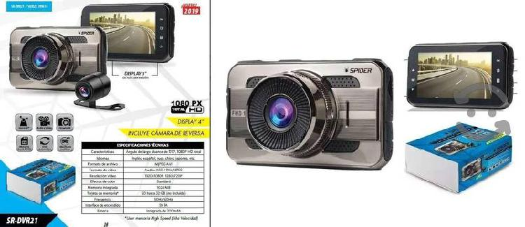 Camara Full HD Spider De Reversa Al Frente 2 En 1