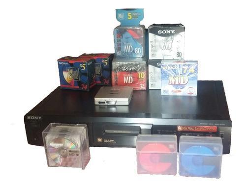 Digital Rec. Minidisc Mds-je330 Con Mini Discos Y Walkman