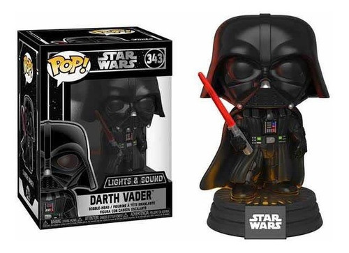 Funko Pop #343 Darth Vader Con Luz Y Sonido Star Wars