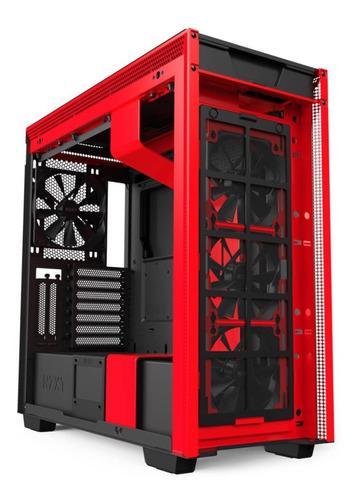 Gabinete Gamer Nzxt H710i Negro-rojo Mid Tower Mini Itx Matx