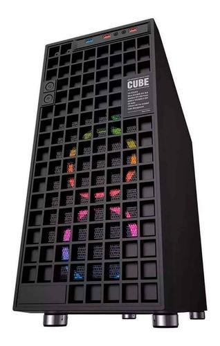Gabinete Gamer Pc Eagle Warrior Cube Negro Cgw3cube01egw /vc