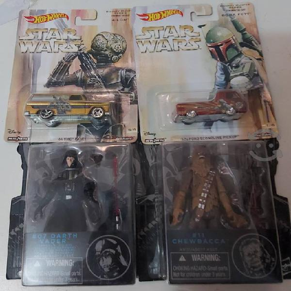 Hotwheels y figuras star wars