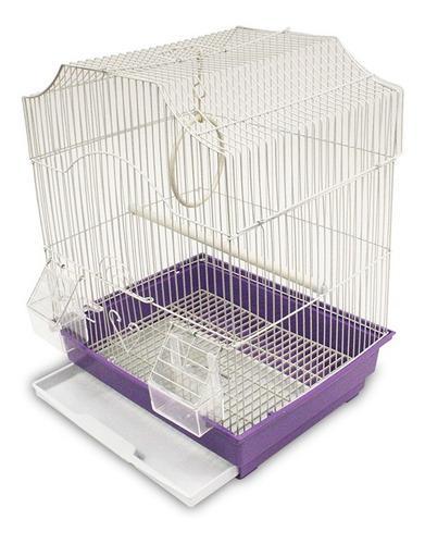 Jaula Niza 2 Para Aves Pájaros Mascotas 35x28x46