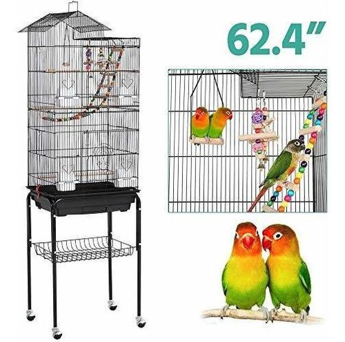 Jaula Para Pájaros Con Soporte Grande Conuras Agapornis Tm