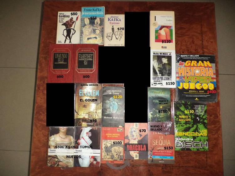 Libros a la venta diversos precios