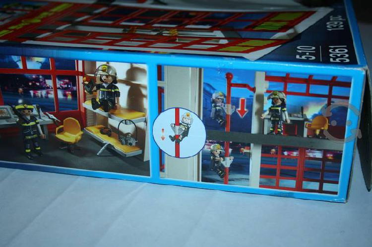 Playmobil Set 5361 Estación De Bomberos Con Sonido