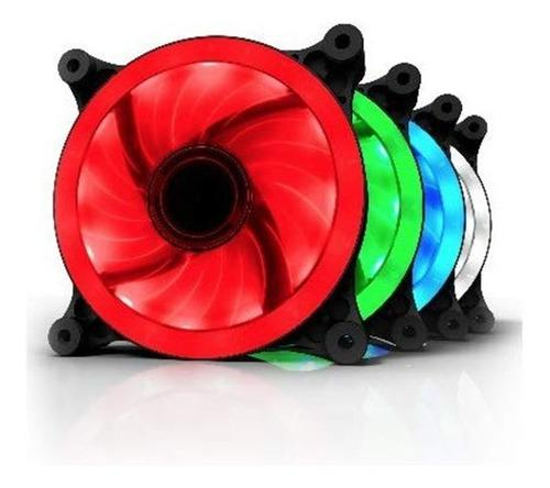 Ventilador Warrior Led Aurora 120mm Colores Blanco Y Verde