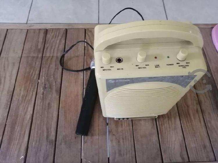 bocina steren para karaoke con microfono